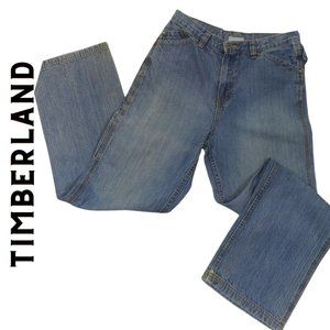 TIMBERLAND Authentic Med Wash Boys Cargo Jeans 18
